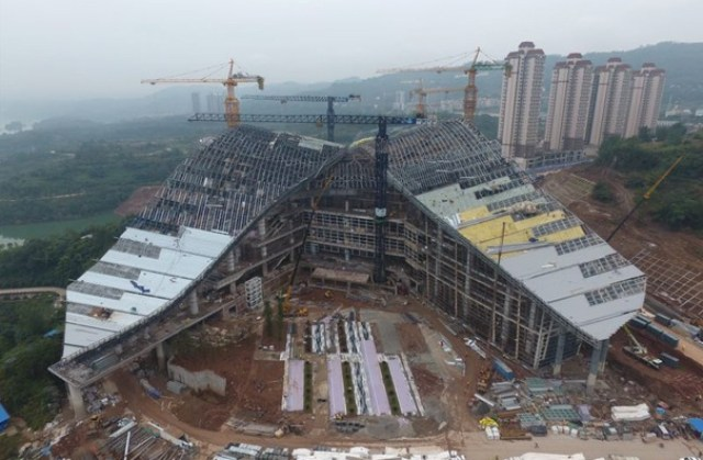 Under-construction Zhongxian E-Sports Stadium located in Chongqing, Western China - InsideSport