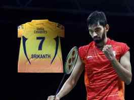 IPL 2018: Srikanth Kidambi gets jersey with his name printed from Chennai Super Kings - InsideSport