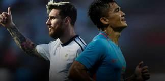 Lionel Messi and Sunil Chhetri - InsideSport