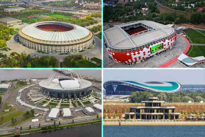 FIFA World Cup 2018: The 12 stadiums – cost, capacity & matches - InsideSport