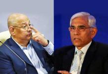 BCCI secretary general Amitabh Choudhary (left) and BCCI CoA chief Vinod Rai (right) - InsideSport