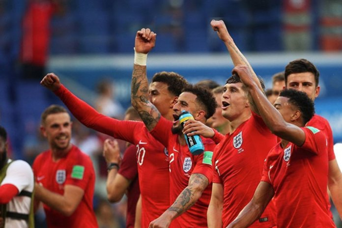 England team at the World Cup 2018