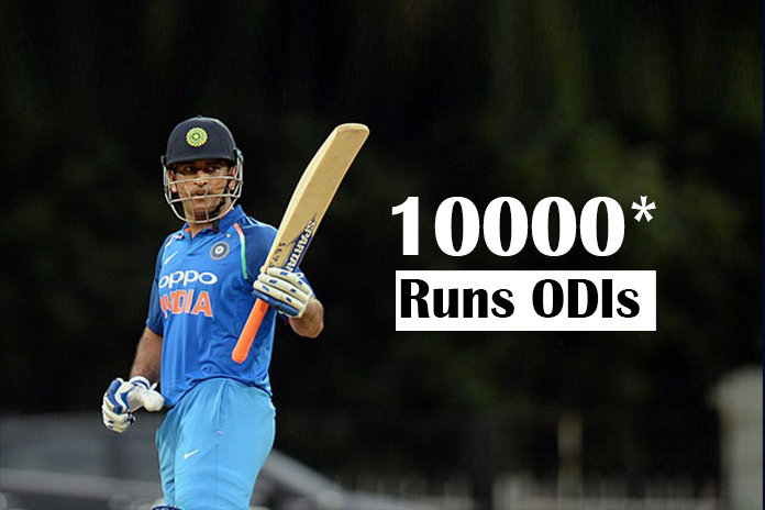 10000 runs in ODIs, Indian batsman to score 10000 runs, Mahendra Singh Dhoni, score 10000 runs, Indian Cricketer Dhoni