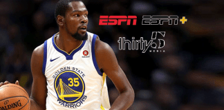 sports business show 'The Boardroom',business of sports,NBA Kevin Durant Partnership,Thirty Five Media partnering with ESPN,kevin durant sports business show