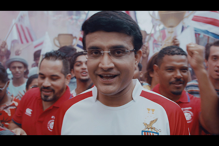 Hero Indian Super League,India's premier football league,Indian Cricketer Ganguly support ATK,ATK Support by sourav ganguly,ISL ATK Campaign Ganguly