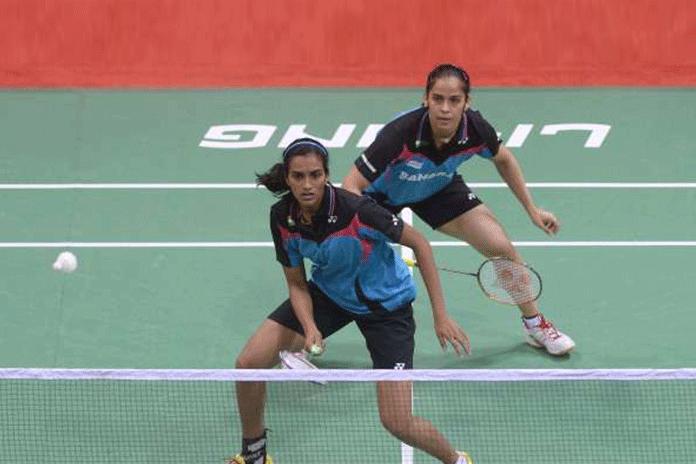 Olympic medallists PV Sindhu,PV Sindhu and Saina Nehwal,Denmark Open badminton tournament,USA's Beiwen Zhang,Srikanth Denmark Open