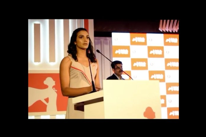 Vodafone Sakhi PV Sindhu,Vodafone ambassador PV Sindhu,#AbRukeinKyun Vodafone Sakhi,Vodafone Sakhi #AbRukeinKyun campaign,Sindhu Vodafone Sakhi  Sindhu launches Vodafone's unique safety feature for women Sindhu launches Vodafone   s unique safety feature for women