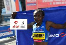 Airtel Delhi Half Marathon,Delhi Half Marathon,2018 Airtel Delhi Half Marathon,Joyciline Jepkosgei Delhi Half Marathon,World Record holder Joyciline Jepkosgei