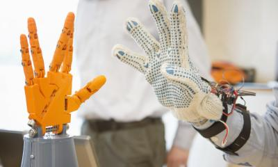 AI based robotic glove to improve muscle grip and help millions