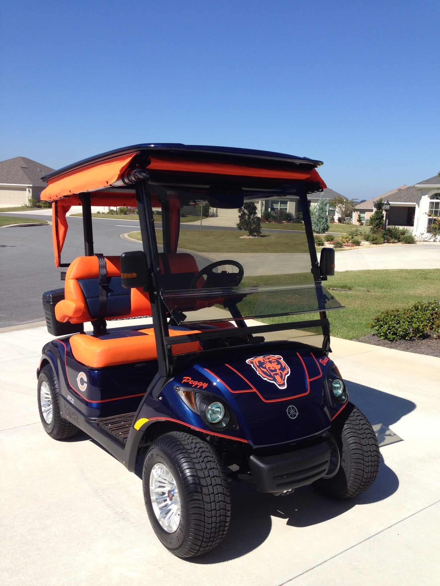 2015 chicago bears yamaha for Yamaha golf cart dealers in florida