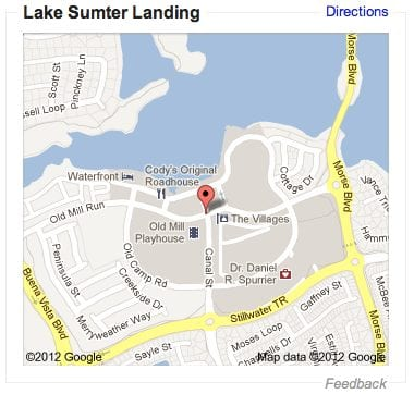Map of Lake Sumter Landing