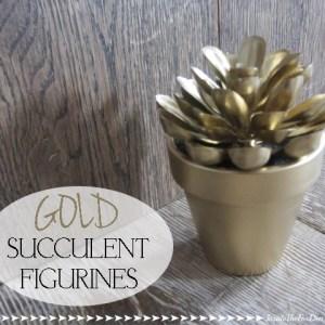 DIY Gold Succulent Figurines