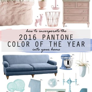 How to Use Pantone's 2016 Color of the Year