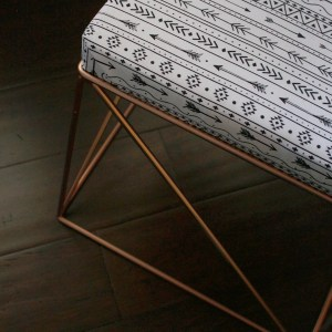 DIY Geometric Upholstered Ottoman | Thrift Store Upcycle Challenge!