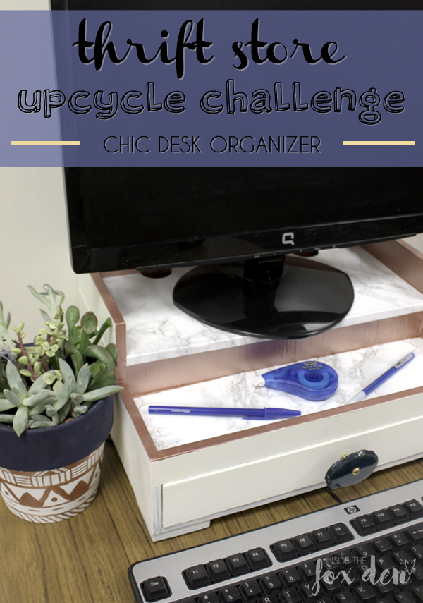 This desk organizer upcycle is super cute! I gotta look for something similar next time I'm in the thrift store!