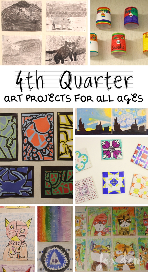 Check out the art projects my students created in their final quarter of art class!
