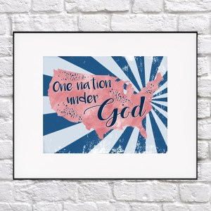 Free Patriotic Printable – One Nation Under God