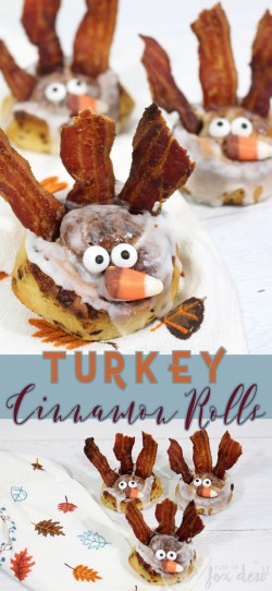 These turkey cinnamon rolls are the perfect easy Thanksgiving breakfast to make while you watch the Macy's parade or participate in family festivities! I can't believe how easy the recipe is to make!