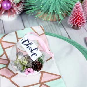 DIY Terrarium Ornament Place Card