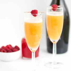 Peach Raspberry Bellini Recipe
