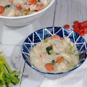 Dairy-Free Chicken & Gnocchi Soup | Pinterest Challenge