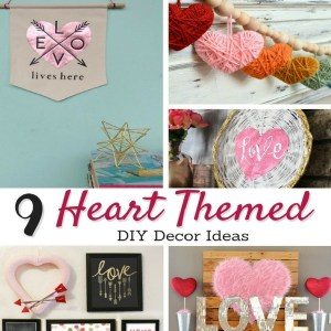 Heart Themed DIY Decor Ideas