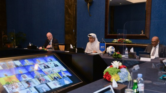 FIFA President Gianni Infantino was among those present at the AFC Executive Board meeting © AFC
