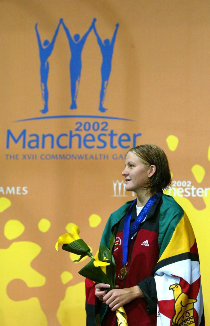 Swimmer Kirsty Coventry won Zimbabwe's last Commonwealth Games gold medal at Manchester 2002 before the country's membership of the Commonwealth was suspended ©Getty Images