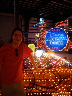 Ricky Brigante with the Main Street Electrical Parade