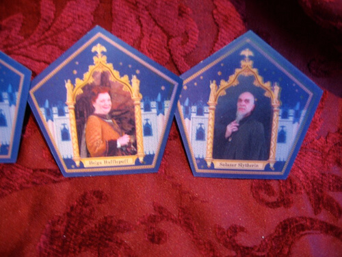 Hogwarts founder lenticular cards (one comes with each Chocolate Frog) $9.95