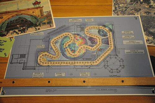 The Little Mermaid: Ariel's Adventure ride layout