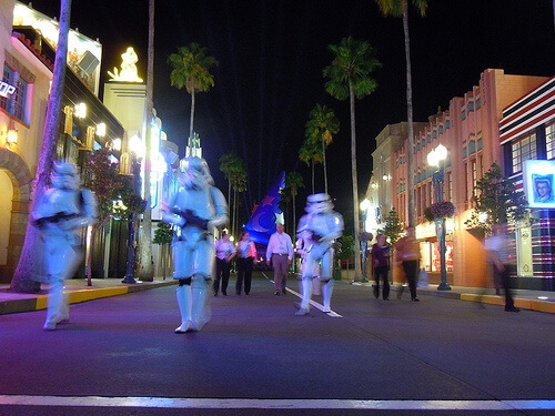 Stormtroopers exit Disney's Hollywood Studios