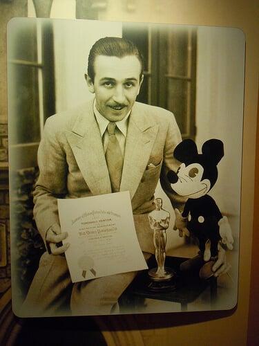 Walt Disney and an Oscar