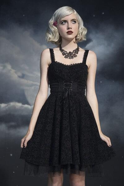Flocked-Dress