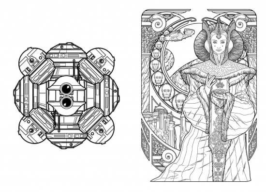 This Is From Star Wars 100 Images To Inspire Creativity And Relaxation An Art Therapy Coloring Book Apparently It Has A Lot Of Prequel Imagery