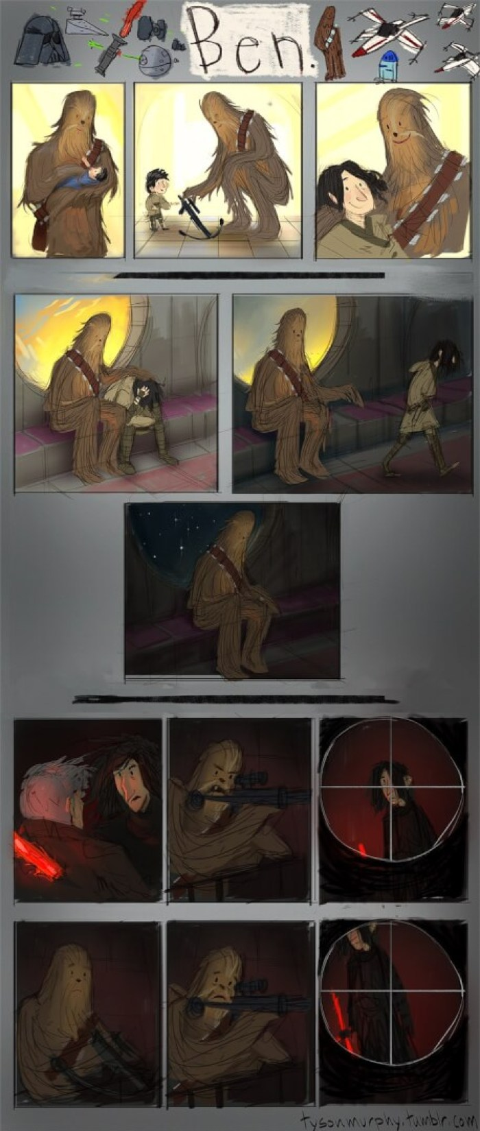 Chewie Kylo Ren comic strip