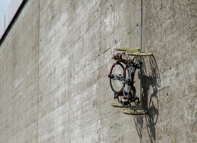 The VertiGo robot climbing on walls.