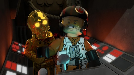 """LEGO STAR WARS: THE RESISTANCE RISES - """"LEGO Star Wars: The Resistance Rises"""" features popular heroes and villains of """"Star Wars: The Force Awakens"""" in a new action-adventure comedy series of shorts on Disney XD. (Disney XD) C-3PO, POE DAMERON"""