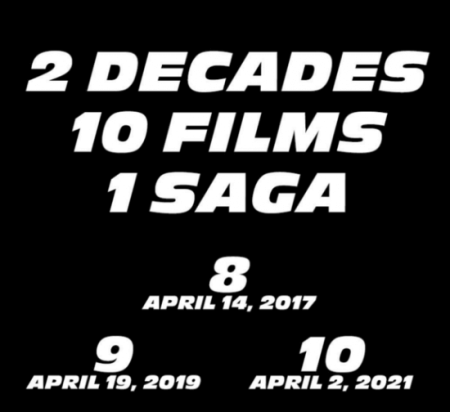 Fast and Furious Vin Diesel date announcement