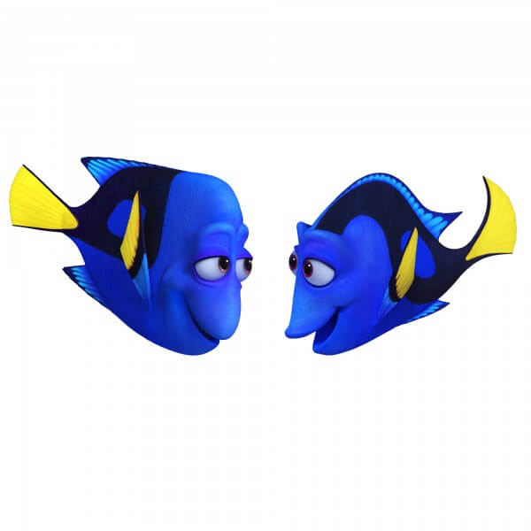 Pictured (L-R): CHARLIE (voice of Eugene Levy) and JENNY (voice of Diane Keaton) would do anything for their only child, Dory. They celebrate and protect her, striving to arm her with the skills she'll need to navigate the world with a faulty memory. Jenny may appear cheerful and a little flighty—but she's a protective mother and a smart role model. Charlie likes to joke around, but nothing is more important to him than teaching his memory-challenged daughter how to survive.