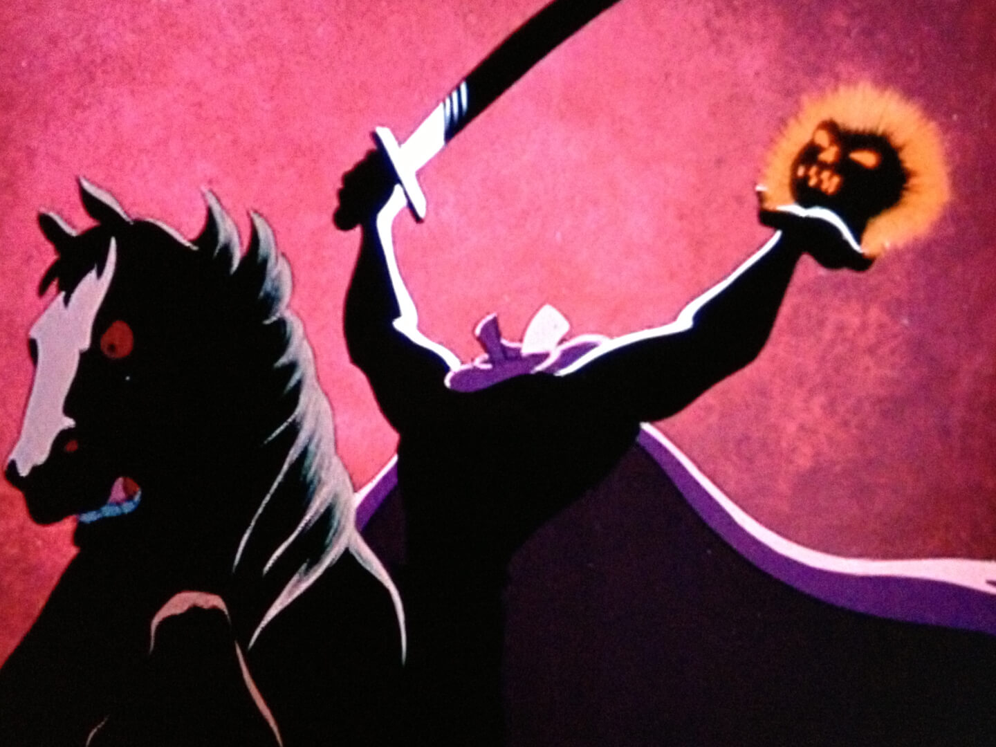 """The Legend of Sleepy Hollow"" screening, Headless Horseman ... Disney Headless Horseman"