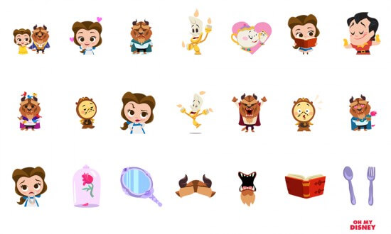 Beauty and the Beast iOS Stickers