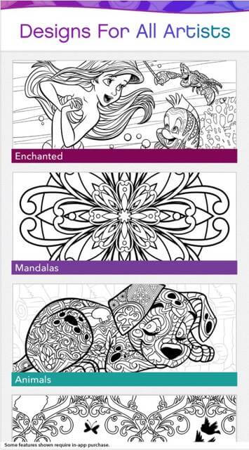 Disney releases new adult coloring book app \