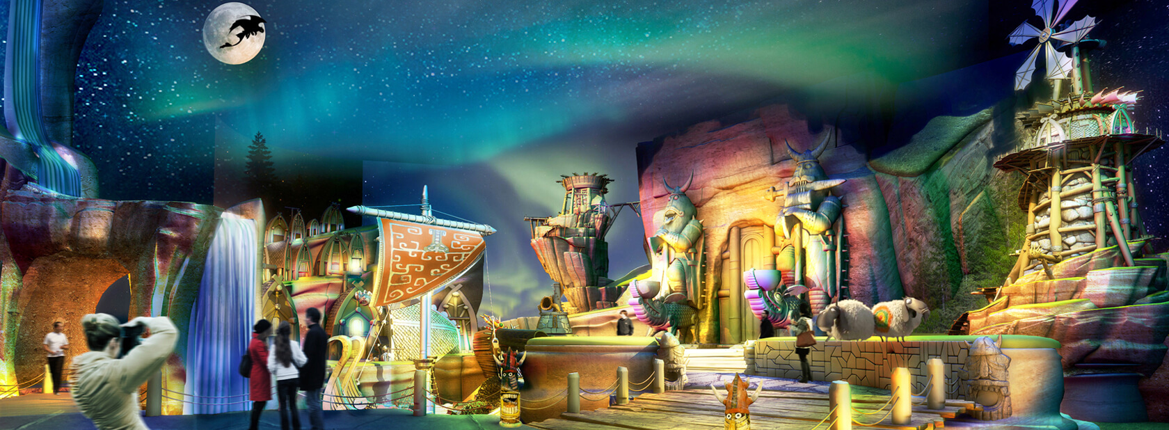 Dubai theme park debuts how to train your dragon themed land how to train your dragon land the dubai theme park has opened this newest land based on the dreamworks animated film the new land will eventually ccuart Gallery