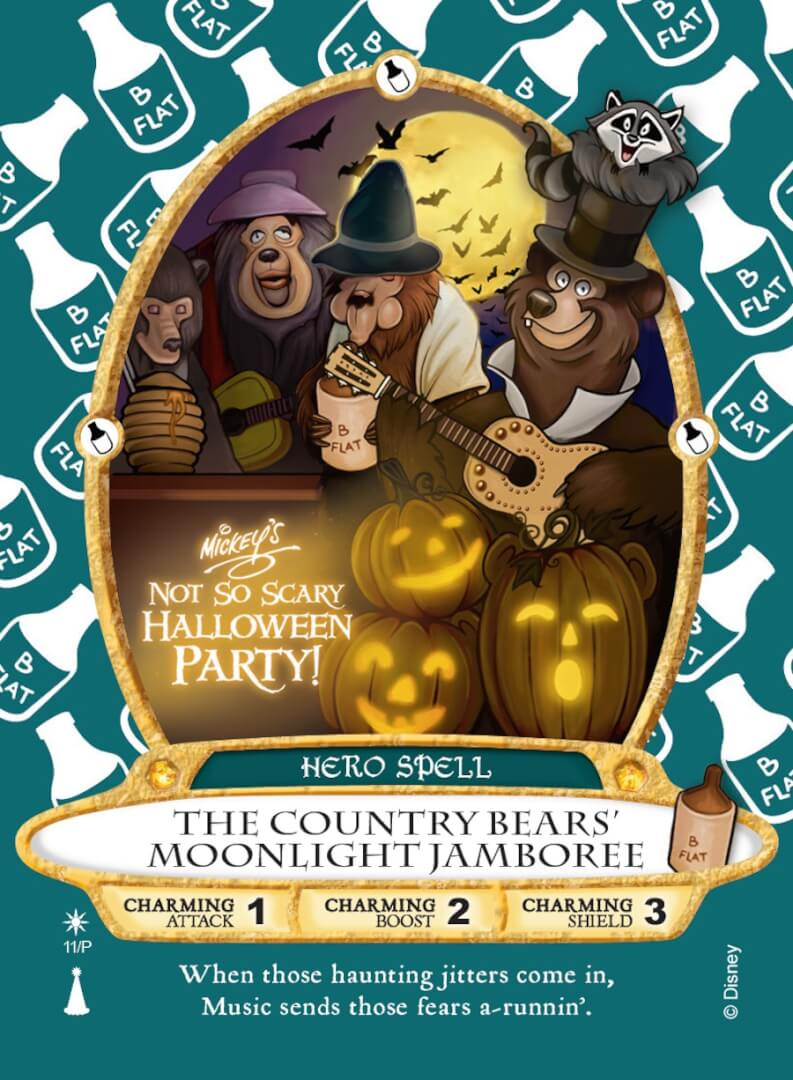 exclusive 'country bears' sorcerers of the magic kingdom card coming