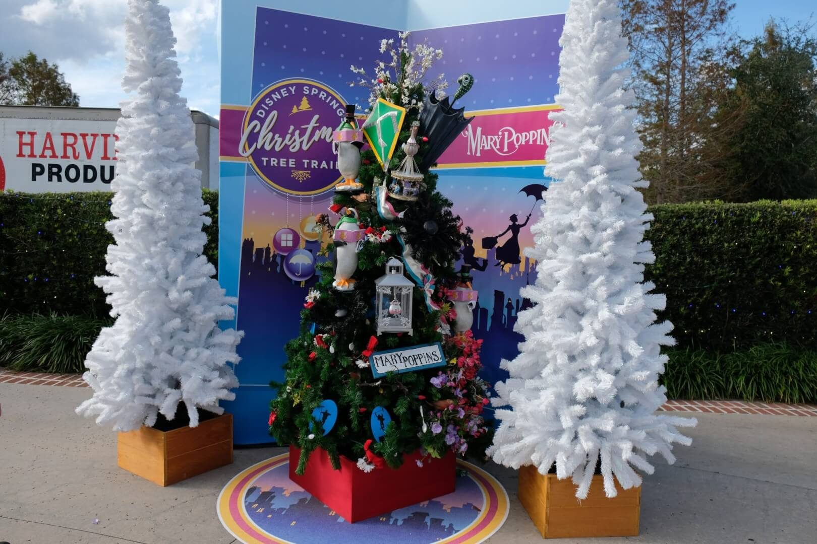 all of these christmas decorations are now on display at disney springs the christmas tree trail is also free to all guests who visit the entertainment