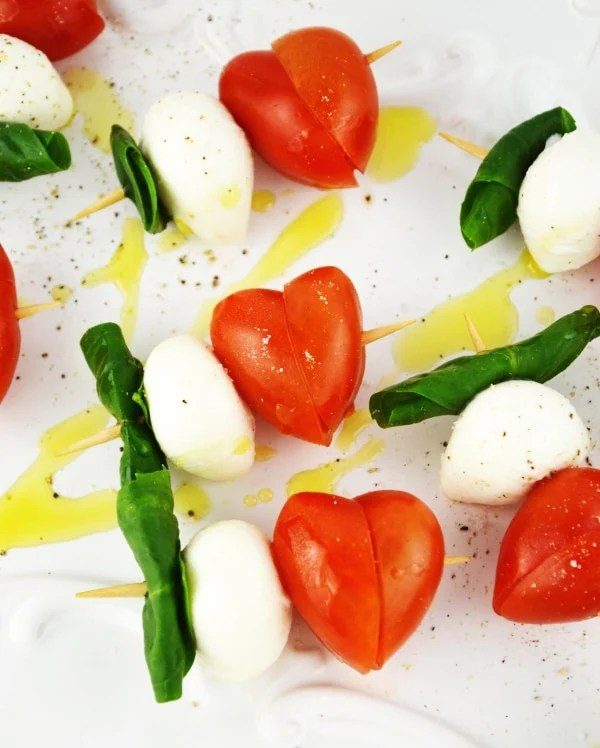 Valentines Caprese Skewers Inside The Rustic Kitchen