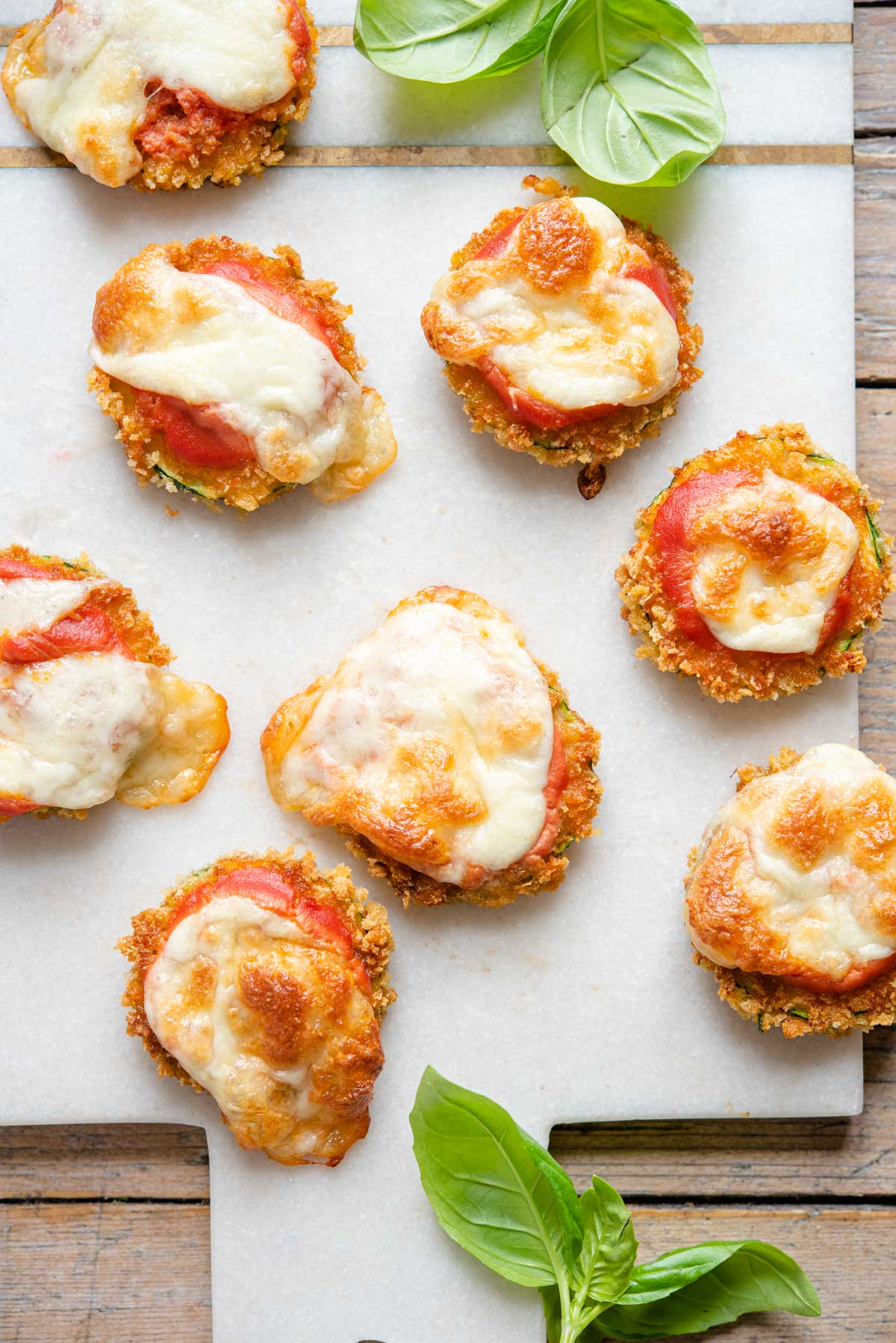Fried Zucchini Pizza Bites
