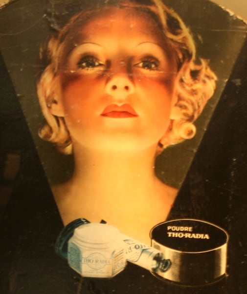 Tho-Radia Poster in the Marie Curie Museum - French Beauty Secret