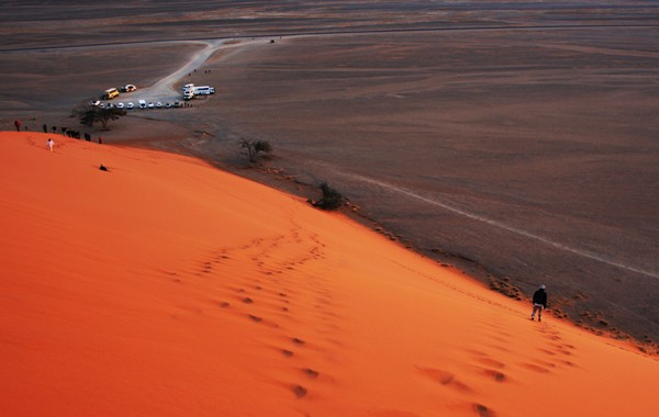 namibia success sand dune in namib symbolising effort and reward